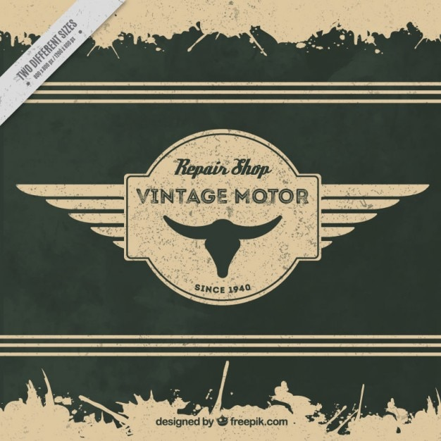 Vintage decorative background with badge motorcycle