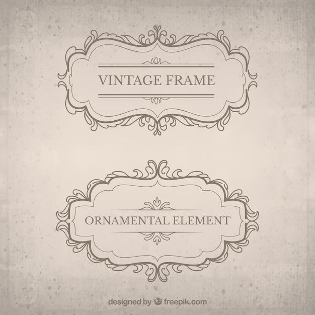 Vintage decorative badge pack