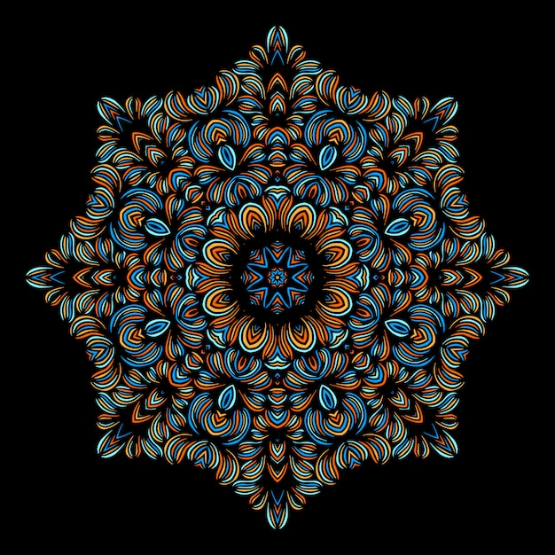 Vintage decorative elements with oriental pattern. yoga template. mandalas. islam, arabic indian turkish and pakistan culture. vector illustration. Premium Vector