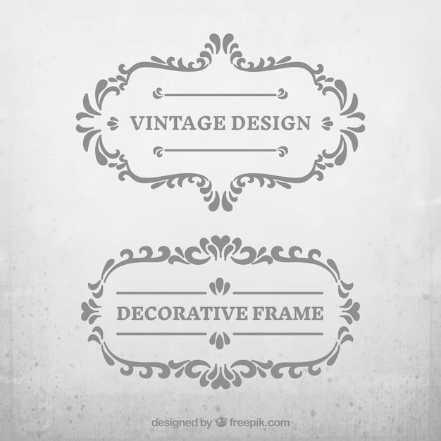Vintage decorative frame pack