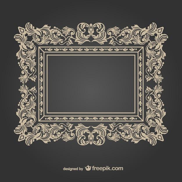Vintage decorative frame Free Vector
