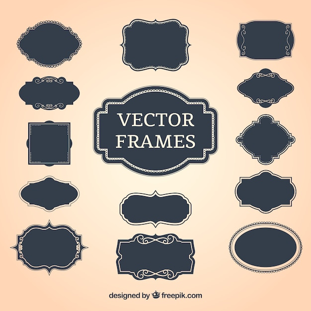 Vintage decorative frames Free Vector