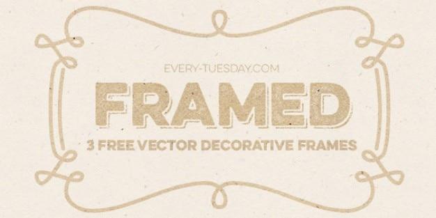 Vintage decorative frames Free Vector