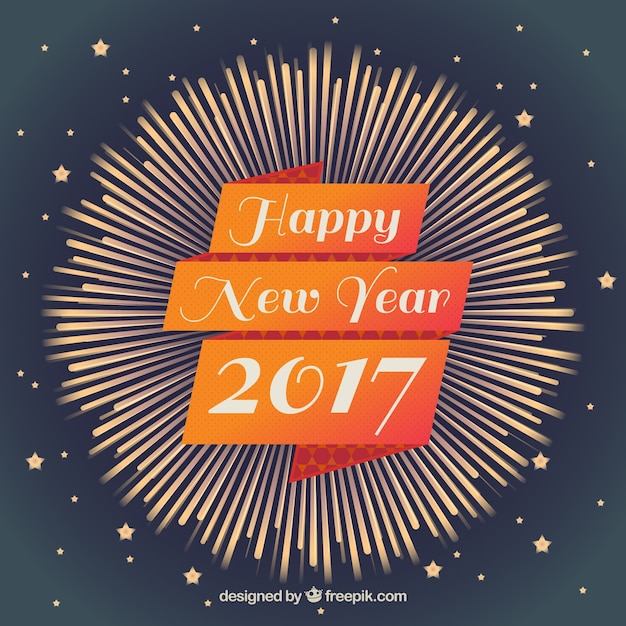 Vintage decorative happy 2017 background