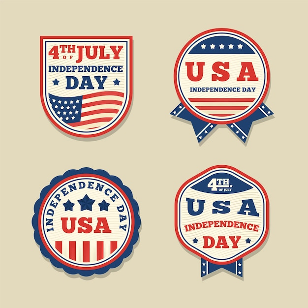 Vintage design 4th of july event Free Vector