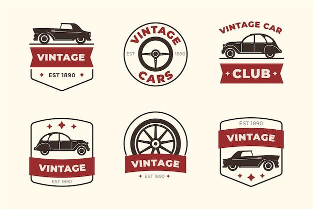 Винтажный дизайн логотипа автомобиля Premium векторы