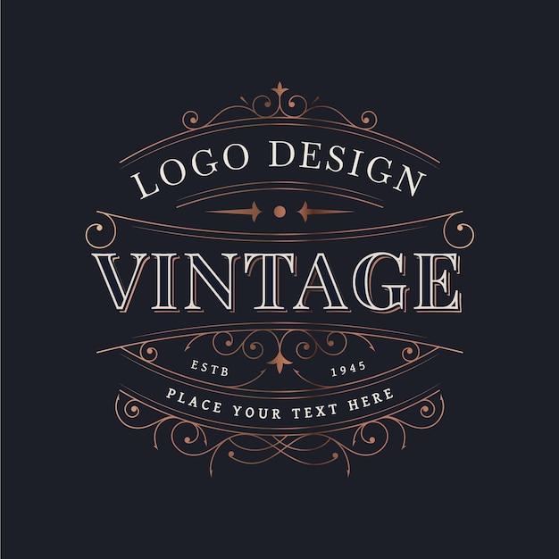 装飾的な装飾が施されたヴィンテージデザイン 無料ベクター