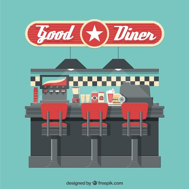 Vintage Diner Vector Premium Download