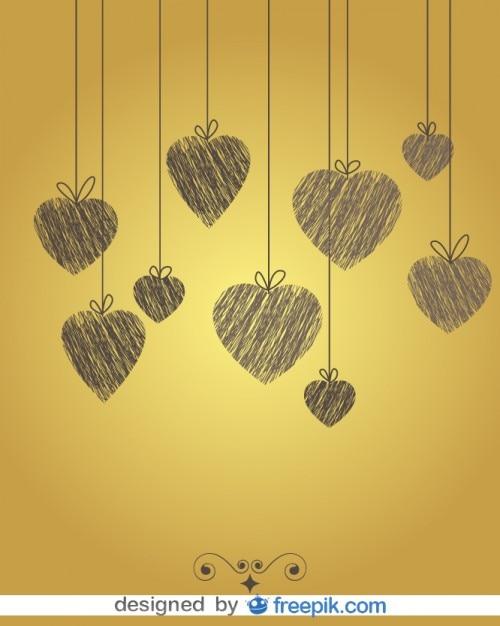 Vintage Heart Background Vintage Doodle ...