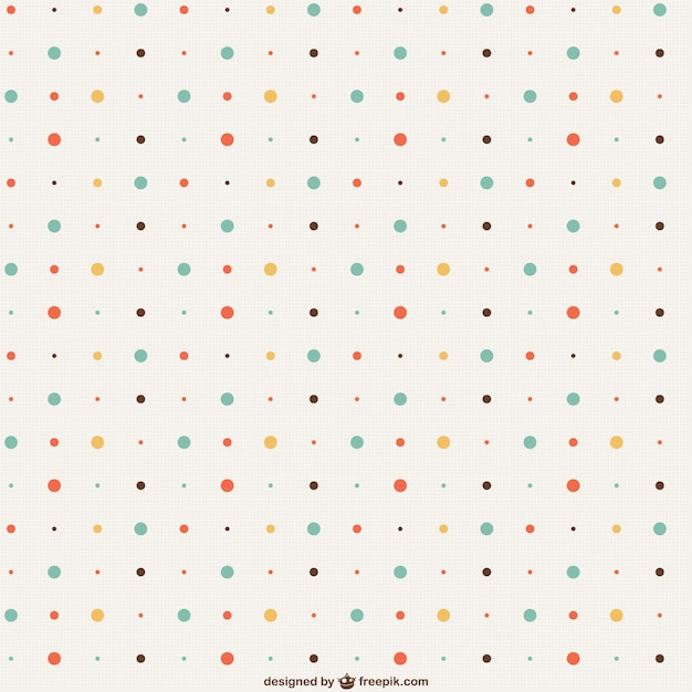 Vintage dots pattern Free Vector