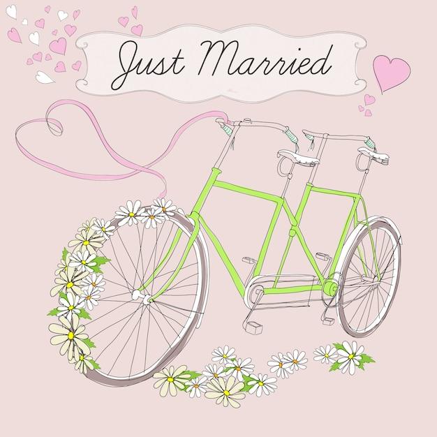ヴィンテージ描画結婚ポスター 無料ベクター
