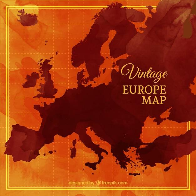 Vintage Europe Map Vector Free Download - Vintage europe map poster