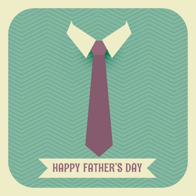 Vintage father's day card with a tie Free Vector