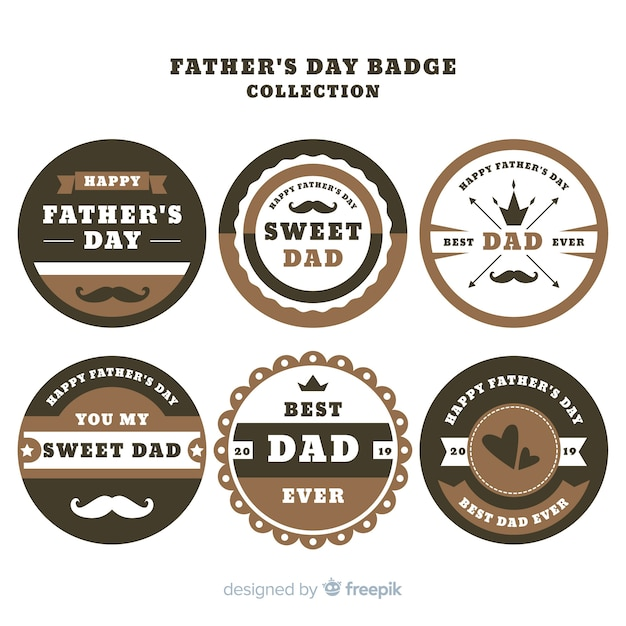Vintage fathers day label collection Free Vector