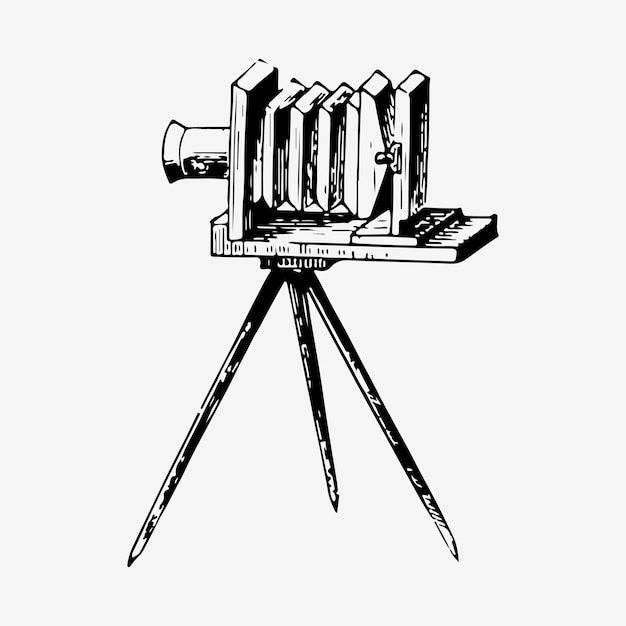 Vintage film slide camera illustration Free Vector