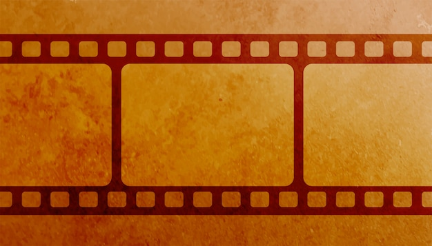 Vintage film strip frame reel background Free Vector