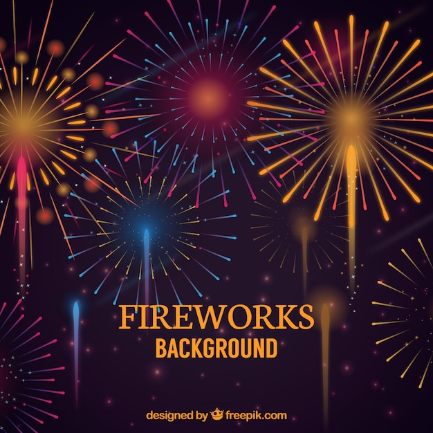 vintage fireworks background vector free download rh freepik com Shooting Fireworks American Fireworks
