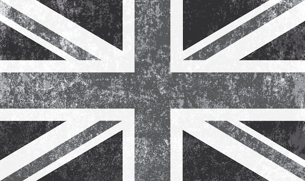 Vintage flag of the united kingdom Premium Vector