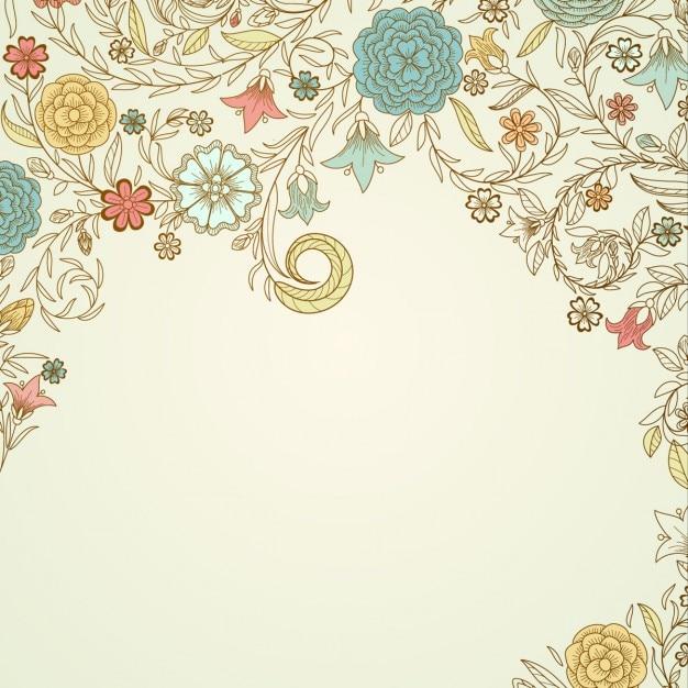 Vintage floral background Vector | Free Download