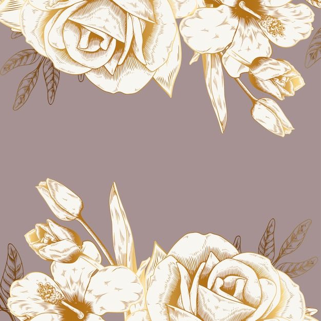 Vintage floral background Free Vector
