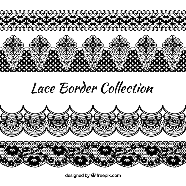 Vintage Floral Border Collection Vector Free Download