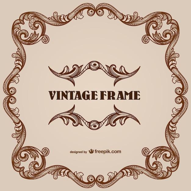 Vintage floral border frames Vector | Free Download