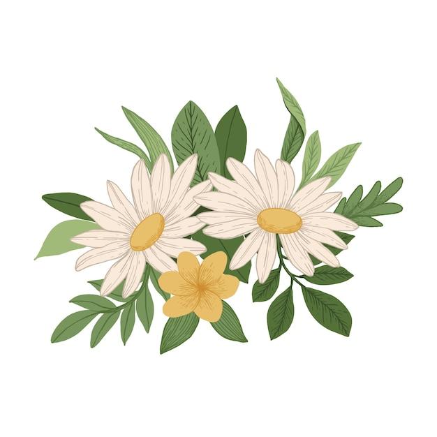 Vintage floral bouquet concept Free Vector