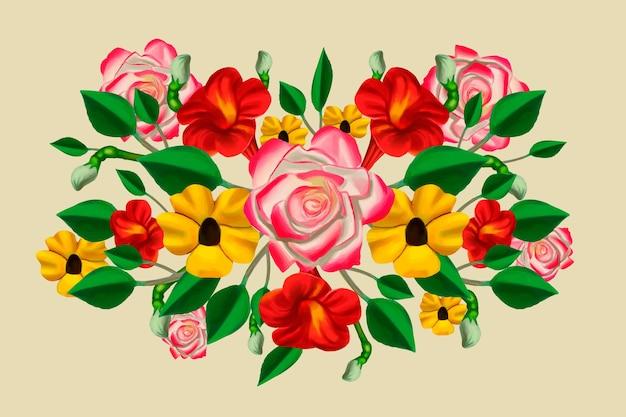 Vintage floral bouquet Free Vector