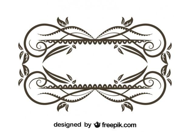 Vintage Floral Decorative Frame Design Vector | Free Download