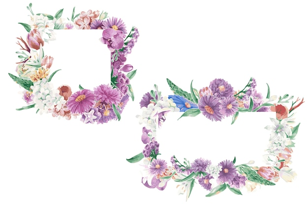 Vintage floral ornaments Free Vector