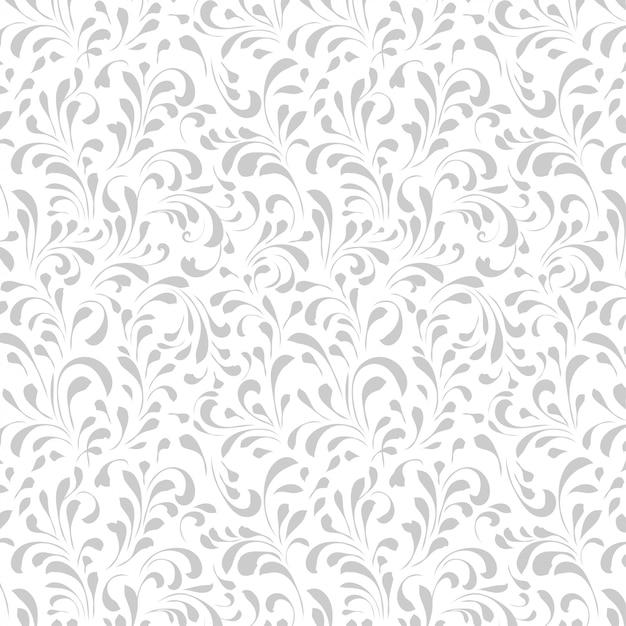 Vintage floral pattern, floral seamless pattern. Premium Vector