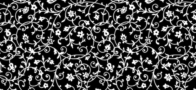 Vintage floral pattern. rich ornament, old style pattern for wallpapers, textile, scrapbooking etc. Premium Vector
