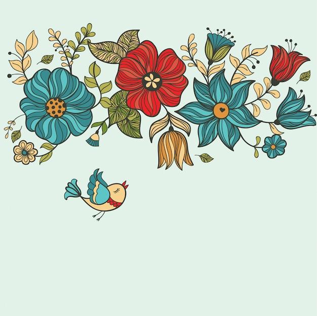 Vintage floral seamless pattern. Premium Vector
