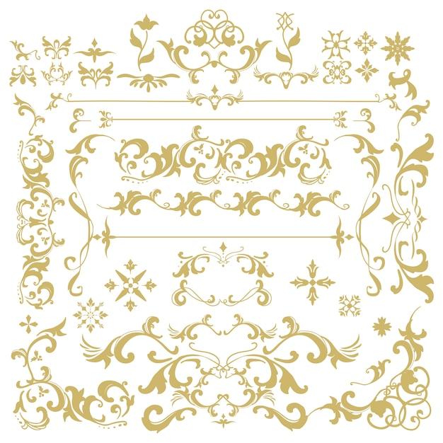 Vintage flourish ornament frame vector Free Vector