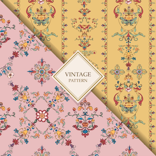 Vintage flourish patterns Free Vector