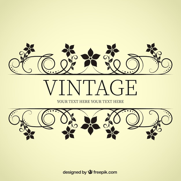 Vintage Flower Banner Vector | Free Download
