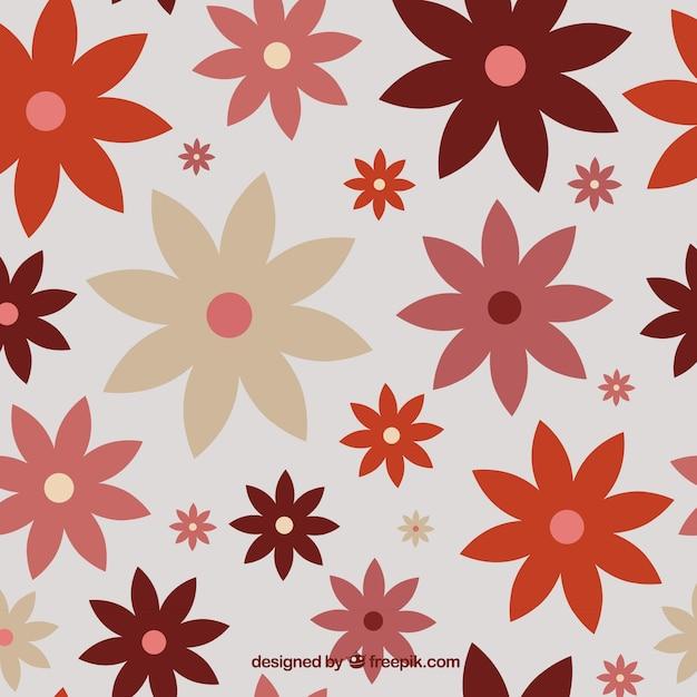 Vintage flowers pattern Free Vector