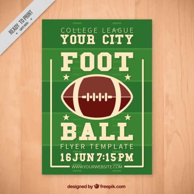vintage football flyer vector free download