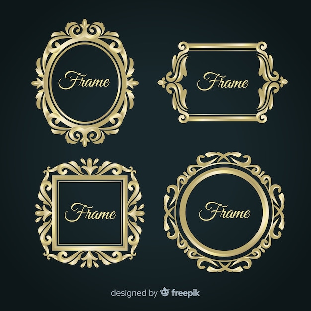 Vintage frame business collection template Free Vector