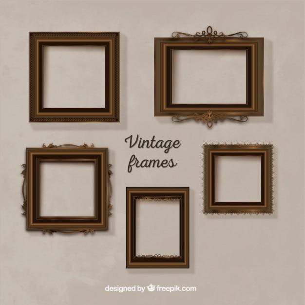 Vintage frame collection Vector   Premium Download