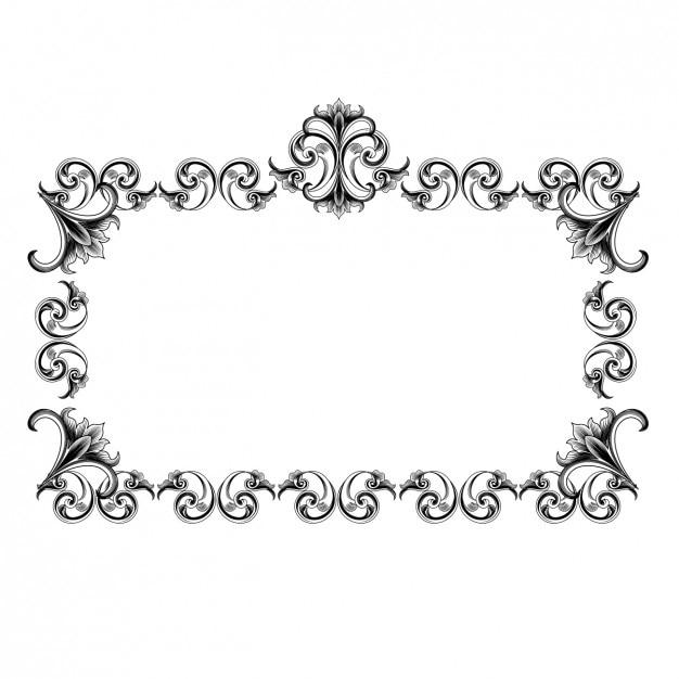 vintage frame design vector free download