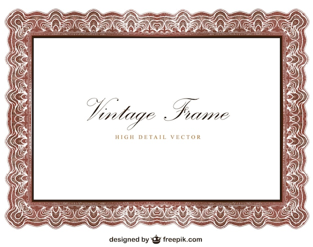Vintage frame design vector free download Blueprint designer free