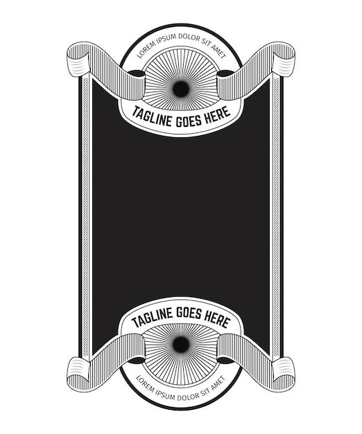 Vintage frame design Premium векторы