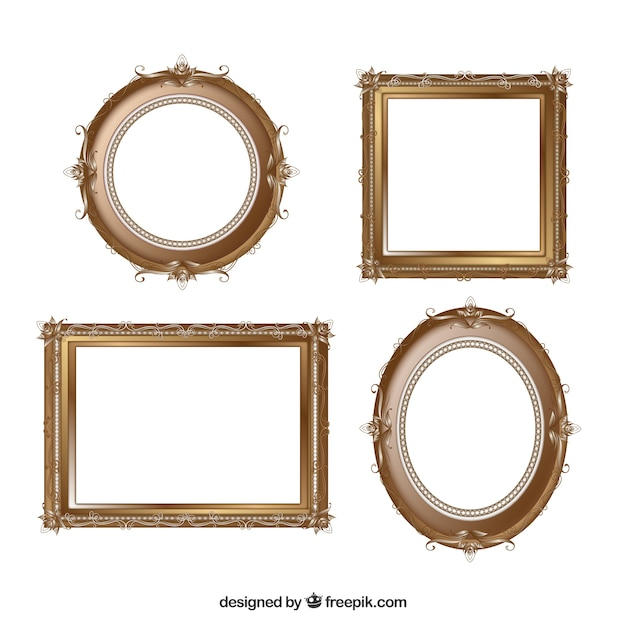 Vintage frame set Vector | Free Download