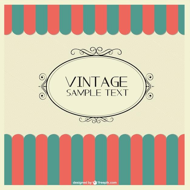 vintage frame template vector free download