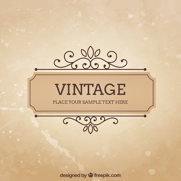 Vintage frame template vector free download vintage frame template free vector maxwellsz