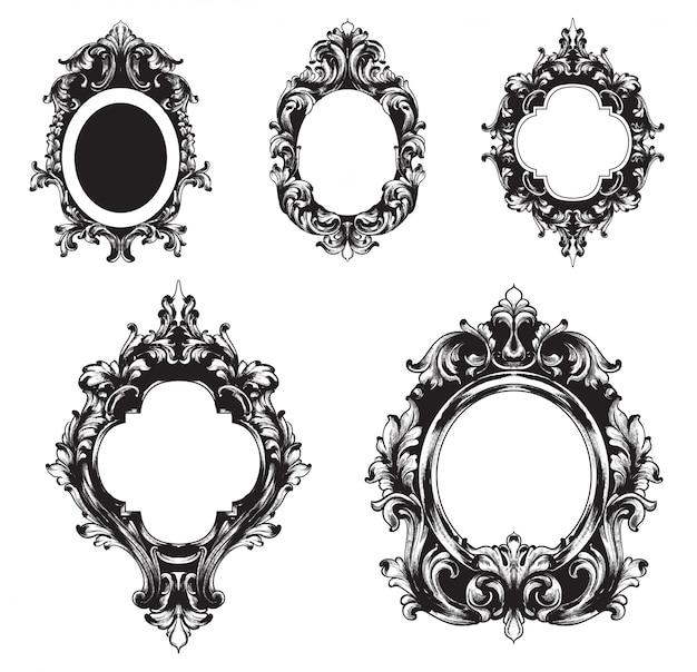 Vintage frames collection Premium Vector