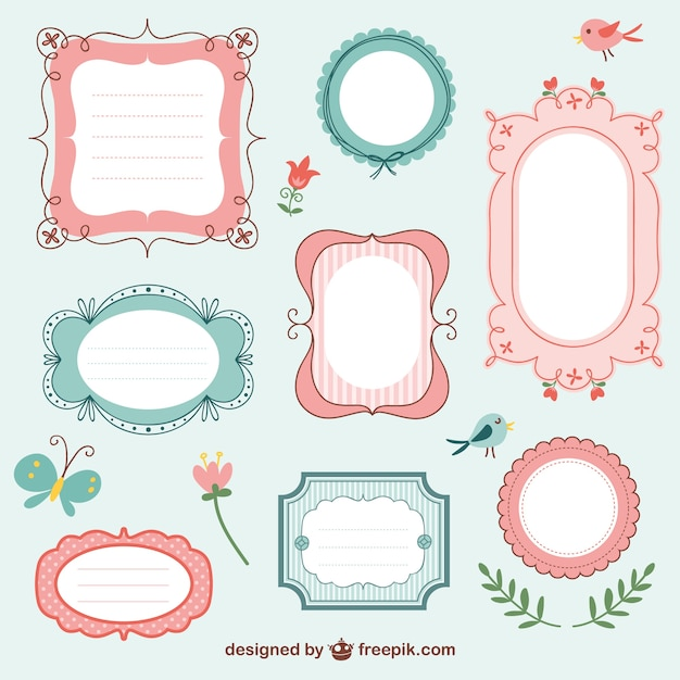 Vintage frames collection Vector Free Download