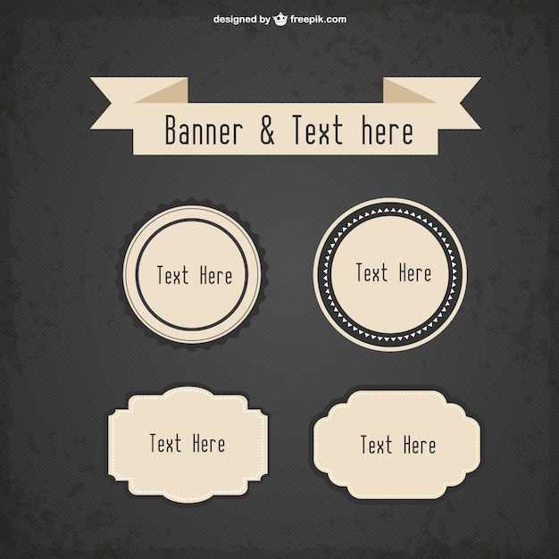 Vintage frames templates collection Vector | Free Download