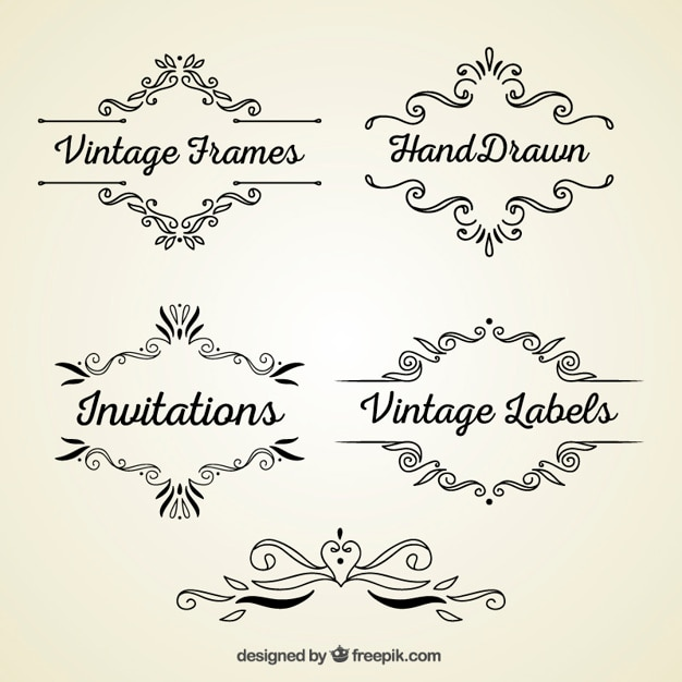 Vintage Frames Vector Free Download